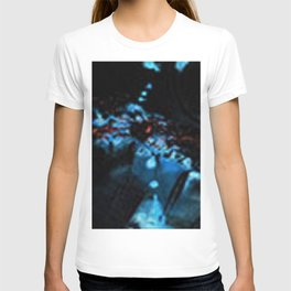 Abstract Black Blue Outer Space Galaxy Cosmos Jodilynpaintings Painting T-shirt