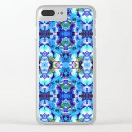 Blue Mosaic Clear iPhone Case