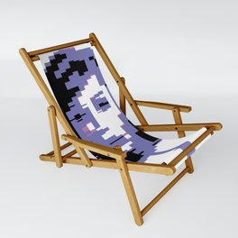 8 Bit Portrait of a Girl Sling Chair