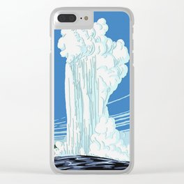 Vintage Yellowstone National Park Travel Clear iPhone Case