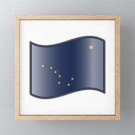 Waving Alaska Flag  Framed Mini Art Print