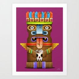 Tiki Statuette Art Print