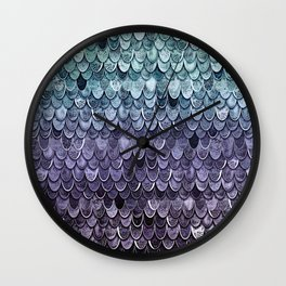 MAGIC MERMAID - MYSTIC TEAL-PURPLE Wall Clock