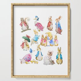 Tales of Peter Rabbit  characters Beatrix Potter Serving Tray