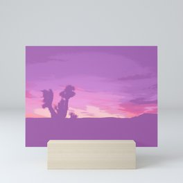 Lavender Joshua Sunset - Pop_Art Mini Art Print