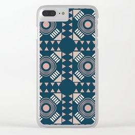 Eli Blue Teracotta Clear iPhone Case