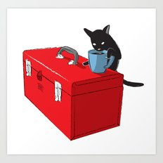 Chat Noir Beverage Tipper Art Print