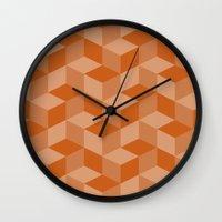 escher Wall Clocks featuring Escher #001 by rob art | simple