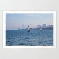 Sailboats Art Print
