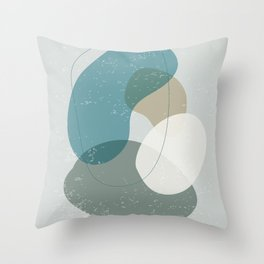 Abstract Stones in Blue No. 1 Throw Pillow