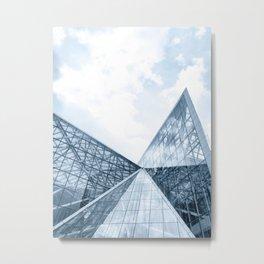 Teal Glass Building Metal Print