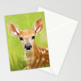 Cute little deer Stationery Cards