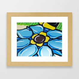 A Painting Of  A Flower Framed Art Print