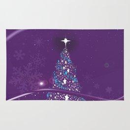 Purple Cold Christmas Rug
