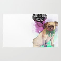 Pugs and kisses Rug