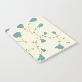 Mint floral on cream Notebook