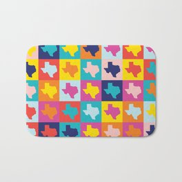 texas rainbow Bath Mat