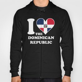 I Love the Dominican Republic Dominican Flag Heart Hoody