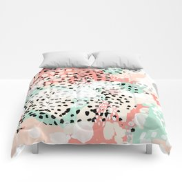 Phoebe - abstract painting minimal gender neutral trendy nursery decor home office art Comforters