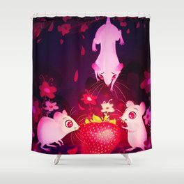 One Strawberry Shower Curtain