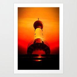 Lighthouse romance Art Print