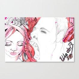 Afelink-Nora002 Scream Canvas Print