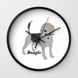 Cute Beagle Wall Clock
