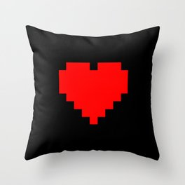 8-bit heart Throw Pillow