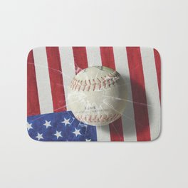 Baseball - New York, New York Bath Mat