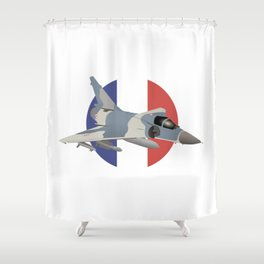 Mirage French Jet Fighter Shower Curtain