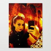 selfie Canvas Prints featuring Selfie by Danielle Tanimura