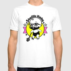 Shuffle Baby White Mens Fitted Tee SMALL