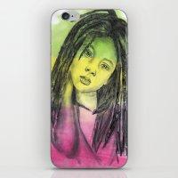 marley iPhone & iPod Skins featuring Marley by Katy Kaydash