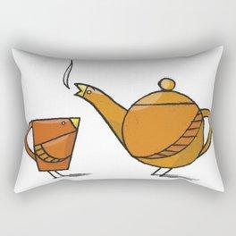 Tea Birds Rectangular Pillow