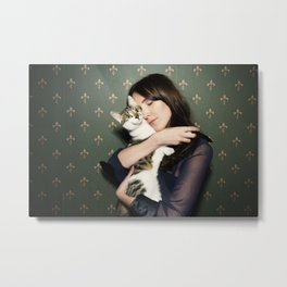 Meow means Woof Metal Print