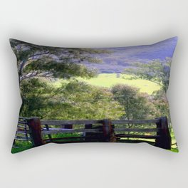 Cattle Yard Rectangular Pillow