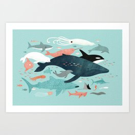 Under the Sea Menagerie Art Print