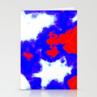 patriotic Stationery Cards featuring Patriotic Sky by Christy Leigh