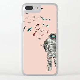 Space Birds Clear iPhone Case