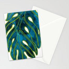 Blue & Green Mix Lau Ulu Leaf Stationery Cards
