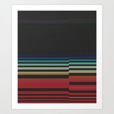 Let's Stripe Art Print