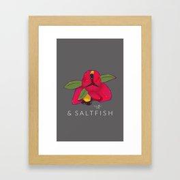 Ackee & Saltfish Framed Art Print