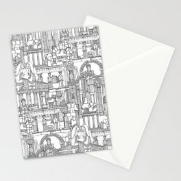 Ancient Greece black white Stationery Cards