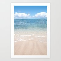 Vertical Ocean Photo Print Art Print