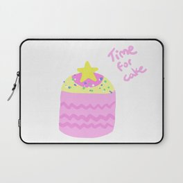 Time for Cake Print Laptop Sleeve