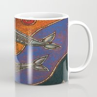 dolphins Mugs featuring Dolphins by Sherdeb Akadan