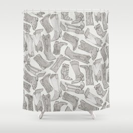 country girl boots mono Shower Curtain