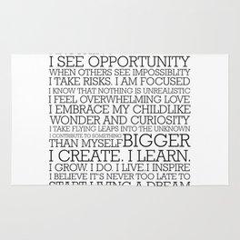 Entrepreneur Manifesto Rug