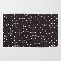 eames Area & Throw Rugs featuring Eames Era Dots 22 by Makanahele