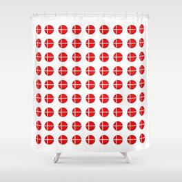 Flag of Denmark 4-danmark,danish,jutland,scandinavian,danmark,copenhagen,kobenhavn,dansk Shower Curtain